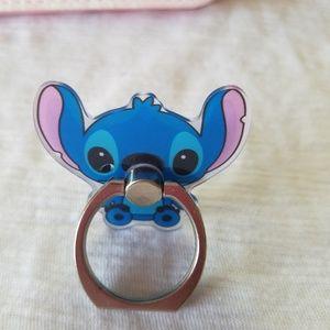Stitch Cartoon Character Phone Ring and Kickstand